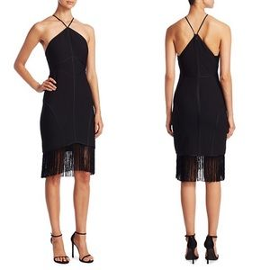 Cinq á Sept Black Fringe Bryn Cocktail Dress 4